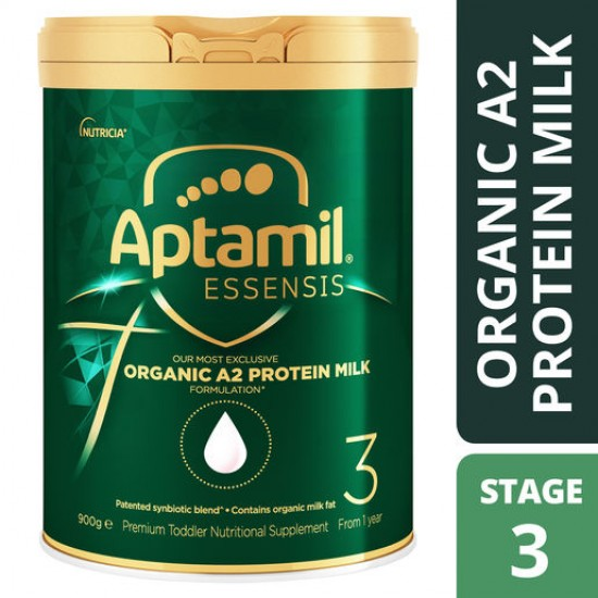 Aptamil Essensis Organic A2 Protein Milk 3  Premium Toddler Nutritional Supplement From 1 Year 900g